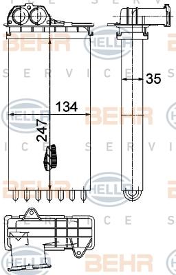 Радиатор отопителя Hella 8FH 351 315-561