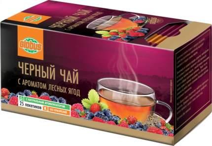 Чай черный Глобус с ароматом лесных ягод 25 пакетиков