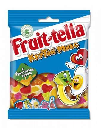 Жевательный мармелад Fruit-tella крутой микс с фруктовым соком 70 г