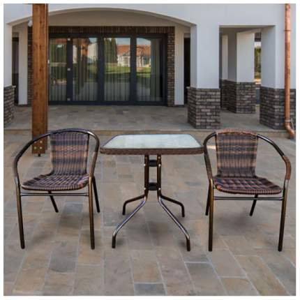Комплект мебели Afina Garden Асоль-2B TLH-037B/073B-60х60 Brown (2+1)