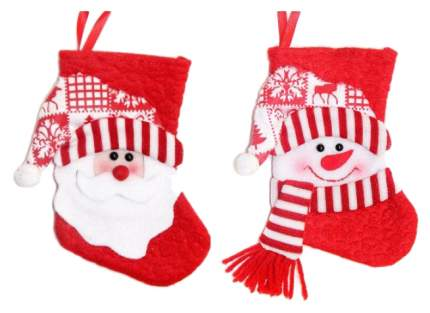 Чулок для подарков Новогодняя сказка 972409 Красный, белый