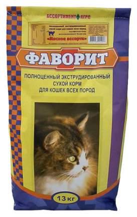 Сухой корм для кошек Фаворит, мясо, 13кг