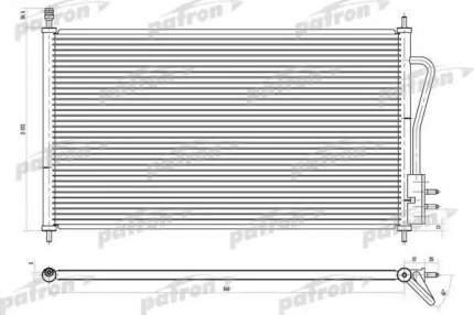 Радиатор кондиционера автомобильный PATRON PRS1103