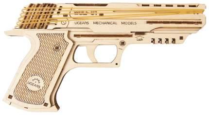Сборная модель конструктор UGEARS Пистолет Вольф-01