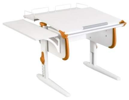 Парта Дэми White Стандарт СУТ-24-02 С задней и боковой приставкой Белый/Оранжевый