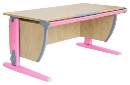 Парта Дэми 120х55 см С двумя задними и боковой приставками и подвесной тумбой Клен Розовый
