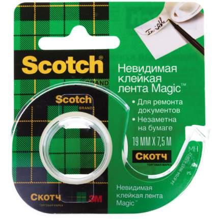 Клейкая лента Scotch Magic Невидимая 19мм х 7,5м, 2шт