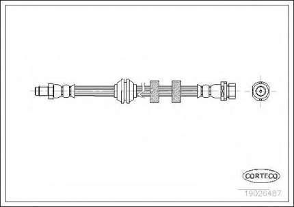 Шланг тормозной Corteco 19026487