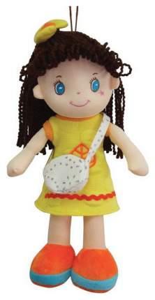 Кукла Creation Manufactory Брюнетка в желтом платье мягконабивная, 20 см