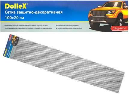 Сетка в бампер автомобиля Dollex 100х20см,черная,Алюминий,ячейки 16х6мм,DKS-013