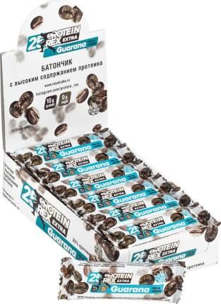 Батончик Protein Rex с экстрактом гуараны, мокко, 18 штук по 40 г