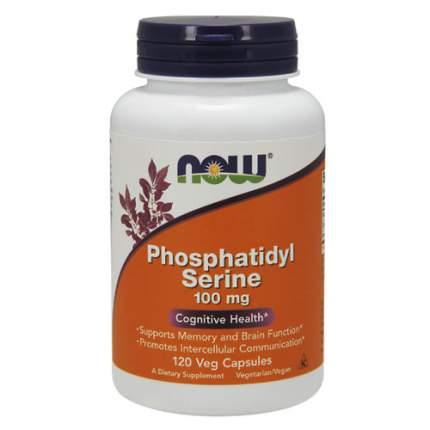 NOW Phosphatidyl Serine 100 мг (120 капсул) - фосфатидилсерин комплекс холин и инозитол