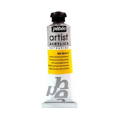 Акриловая краска Pebeo Artist Acrylics extra fine №3 желтый основной 37 мл