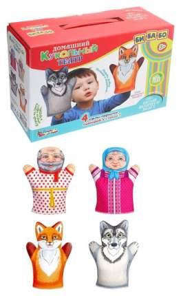 ДЕСЯТОЕ КОРОЛЕВСТВО Домашний кукольный театр Битый небитого везет (4 куклы-перчатки) 3644
