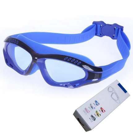 Очки-полумаска для плавания Hawk R18013 сине-черные