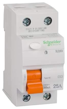 """Выключатель дифференциального тока (УЗО) """"ВД63 Домовой"""", 2 поста, 25 А, 300 мА, тип AC"""