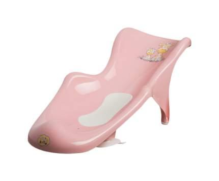 MALTEX Сиденье для ванны с нескользящим ковриком Жираф Розовый