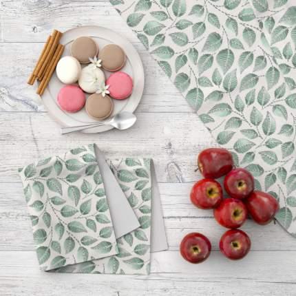 Набор кухонного текстиля MARENGO TEXTILE «Зеленные листья» 7 пр.