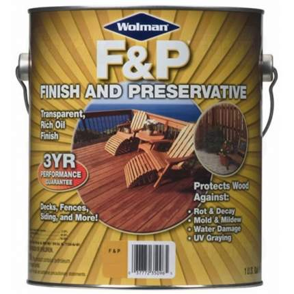 Масло  Wolman F&P Finish And Preservative для террас, для дерева 3,78 л