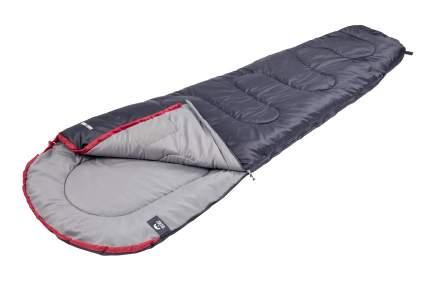 Спальный мешок Jungle Camp Easy Trek, левая молния, цвет: антрацит, красный