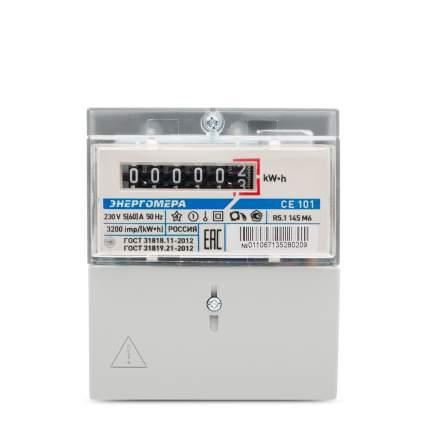 Счетчик электроэнергии Энергомера Ce101 R5.1 145 М6 Эл/Эн 1Ф 1Т 5(60)А, 6-Ти