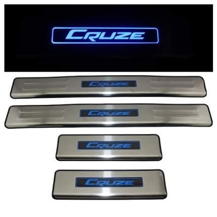 Накладка на наружный порог багажника с рисунком для Chevrolet Cruze 2009-2019