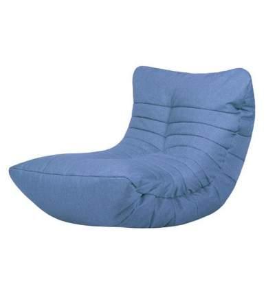 Кресло бескаркасное Папа Пуф Cocoon Chair Blue, размер L, рогожка, синий