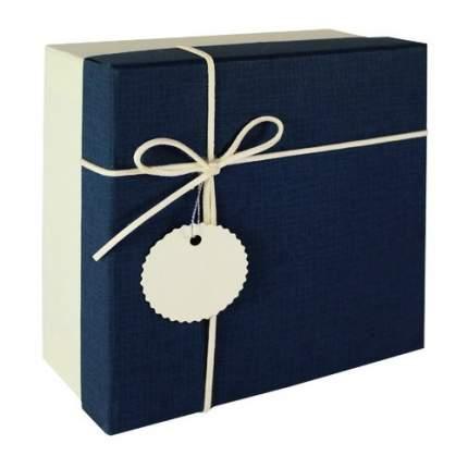 Коробка с бантиком, средняя, 18 х 18 х 8 см, синяя