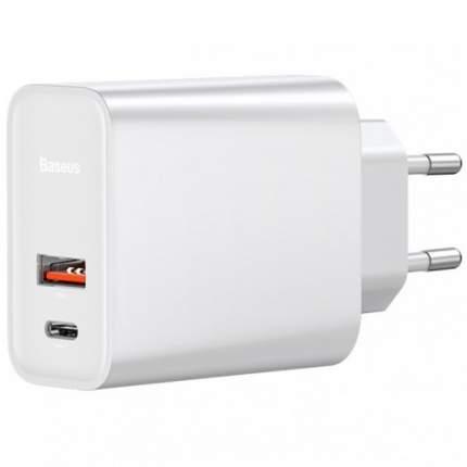Сетевое зарядное устройство Baseus USB+Type-C 30W White (CCFS-C02)