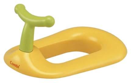 Детское сидение для туалета Combi Asst Toilet желтое с зеленой ручкой