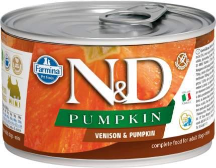 Консервы для собак Farmina N&D Mini Pumpkin, оленина и тыква, 140г