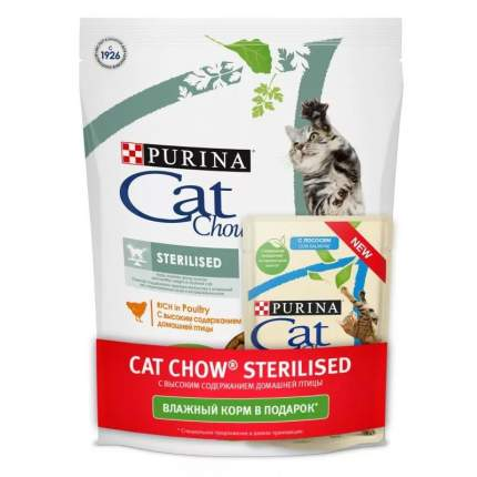 Сухой корм Cat Chow Special Care Sterilised для стерилизованных кошек 400 гр + Пауч