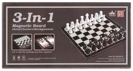 """Игра настольная, магнитная 3-в-1 """"Шашки, шахматы, нарды"""""""