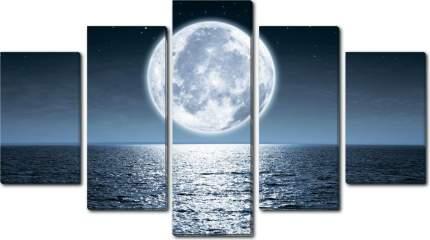 Модульная картина на холсте 150x90 Луна море Ekoramka HE-107-249