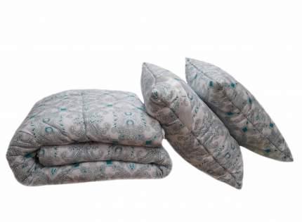 Всесезонное полутораспальное одеяло SleepMaker Sanita Eco 140x205см Лебяжий пух Малахит