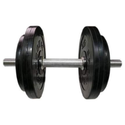 Гантель разборная обрезиненная СпортКом 17 кг.