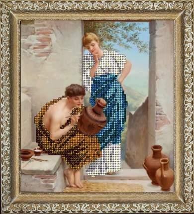 Набор для вышивания ювелирным бисером Краса и творчество 10715 Художник 15,5х17 см