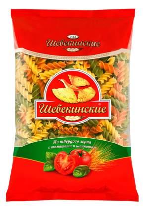 Макароны Шебекинские три цвета спирали с томатами и шпинатом 450 г
