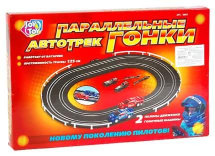 Автотрек Joy Toy Параллельные гонки 125 см с машинками 0807