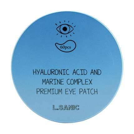 Патчи для глаз L'Sanic Hyaluronic Acid And Marine Complex Premium Eye Patch 60 шт