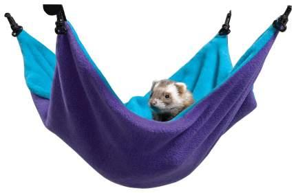 Гамак для хорьков, крыс Midwest утепление текстиль 33x43см фиолетовый, голубой