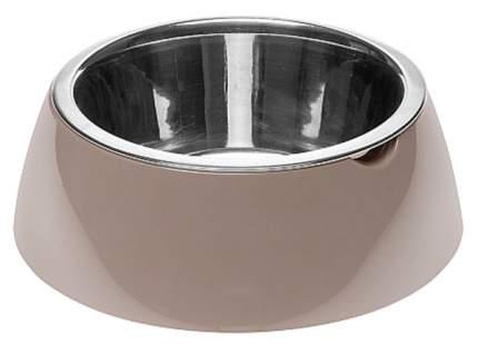 Одинарная миска для кошек и собак Ferplast, пластик, резина, сталь, серый, 0.5 л