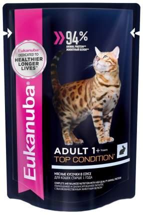 Влажный корм для кошек Eukanuba Adult Top Condition, с кроликом в соусе, 24шт по 85г