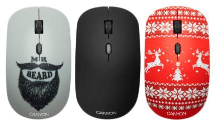 Беспроводная мышь CANYON CND-CMSW521BJ Red/Grey