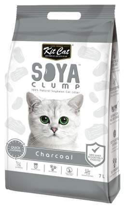 Комкующийся наполнитель туалета для кошек Kit Cat SoyaClump Soybean Litter Charcoal 7 л