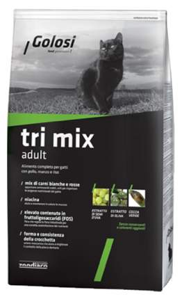 Сухой корм для кошек Golosi Adult, с тремя вкусами, 0,4кг