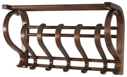 Вешалка настенная Мебелик В 5Н Темно-коричневый