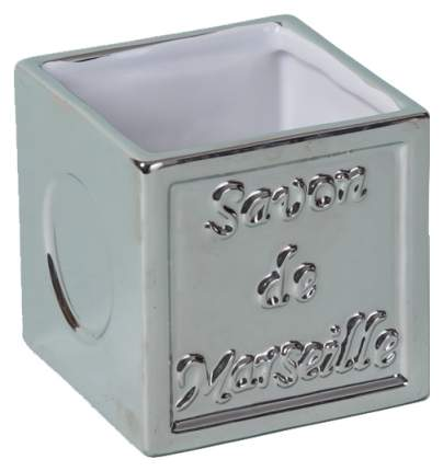 Стакан для зубных щеток Spirella Savon de marseille керамика Серебро