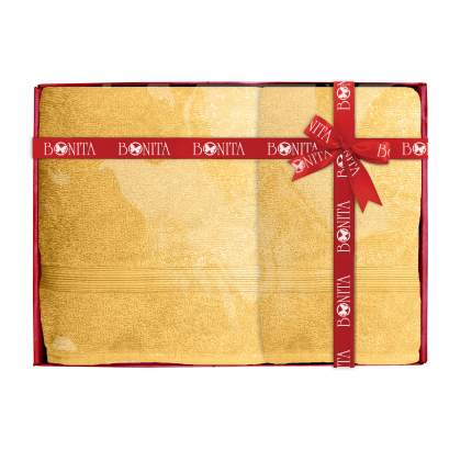 Набор из 2-х полотенец банных Bonita, махровых, Classic, Медовый