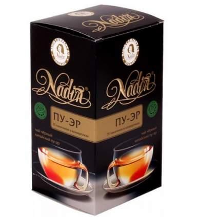 Чай черный Nadin пу эр 25 пакетиков